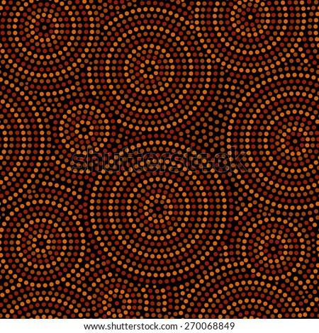 stock-vector-australian-aboriginal-geometric-art-concentric-circles-seamless-pattern-in-orange-brown-and-black