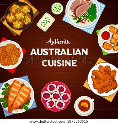 australian cuisine vector crash