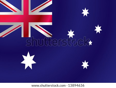 Australian flag with a wind ripple make an ideal background