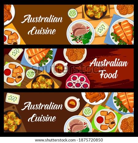 australian food vector baked