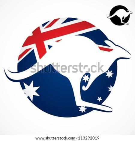 australian kangaroo symbol
