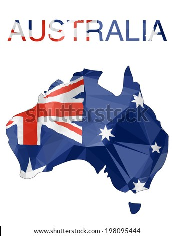 australian map with flag colors