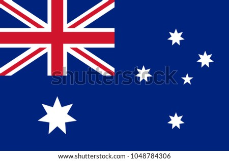 australian national flag in accurate colors, official flag of australia in exact colors, real colors