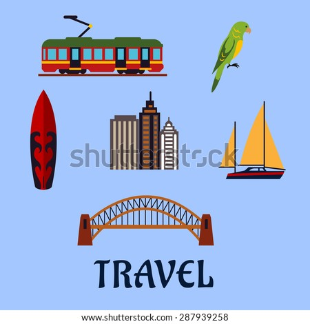 australian travel concept with