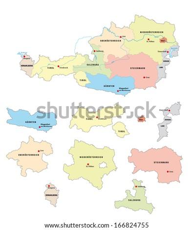 austria administrative map