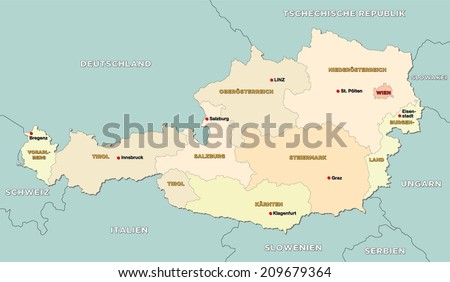 Free Austria Map Vector Download Free Vector Art Stock Graphics