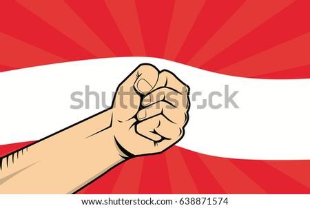 austria fight protest symbol