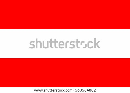 Austria Flag. Official colors and proportion correctly. National Flag of Austria. Austria Flag vector illustration. Austria Flag vector background.