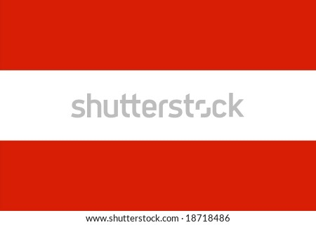 Austria flag vector illustration