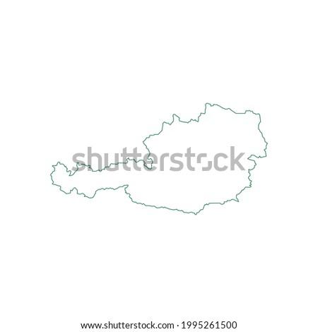 Austria Map. Austria Map outline. Austria map vector illustration