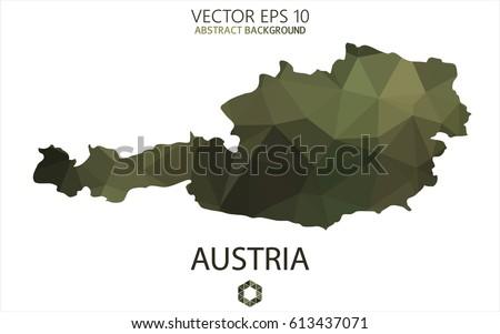 austria map in geometric