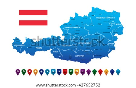 Free austria map vector download free vector art stock graphics austria map vector illustration gumiabroncs Choice Image