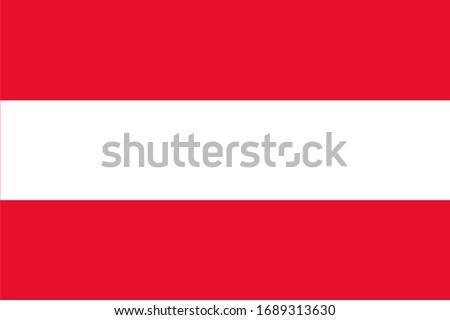 Austria national flag. Vector illustration of Standart size