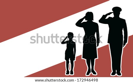 austria soldier family salute