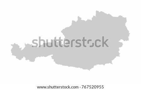 Austria World Map Country Outline In Graphic Design Concept Ez Canvas