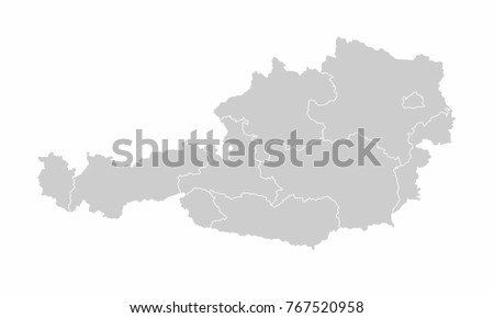 Austria World Map Country Outline In Graphic Design Concept