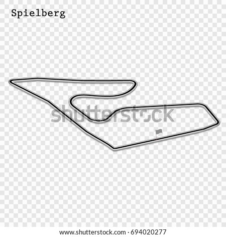 Stock Photo Austrian grand prix race track. circuit for motorsport and autosport. Vector illustration. Austria Red Bull Ring, Spielberg