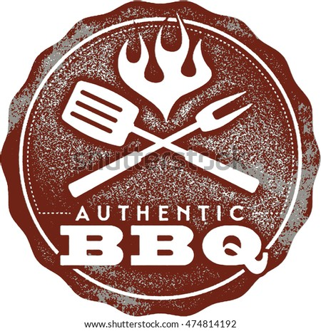Authentic BBQ Vintage Barbecue Sign