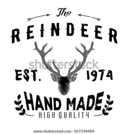 authentic hipster logotype with