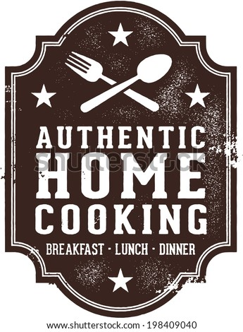 Authentic Home Cooking Vintage Sign