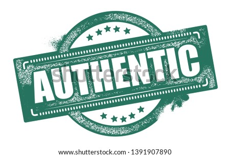 Authentic Rubber Stamp. Vector Illustration.
