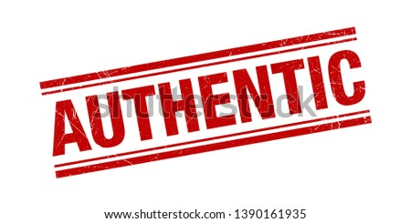 Authentic Stamp Red Grunge Texture Vector Illustration
