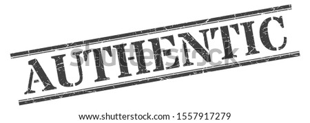 authentic tag. authentic square grunge stamp. black sign isolated on white background