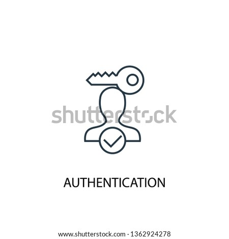 Authentication concept line icon. Simple element illustration. Authentication concept outline symbol design. Can be used for web and mobile UI/UX