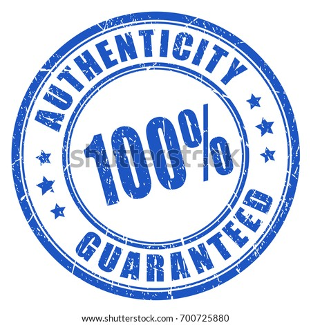 Authenticity guaranteed rubber stamp