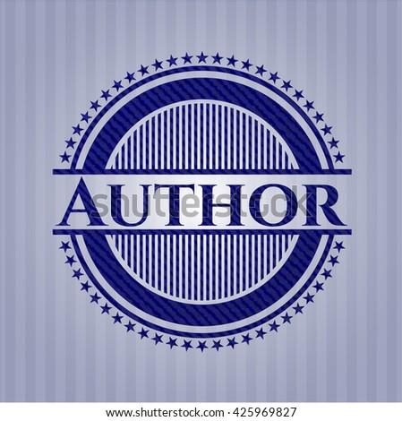 Author denim background