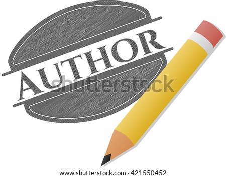 Author draw with pencil effect