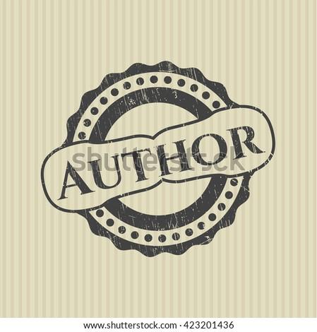 Author grunge stamp