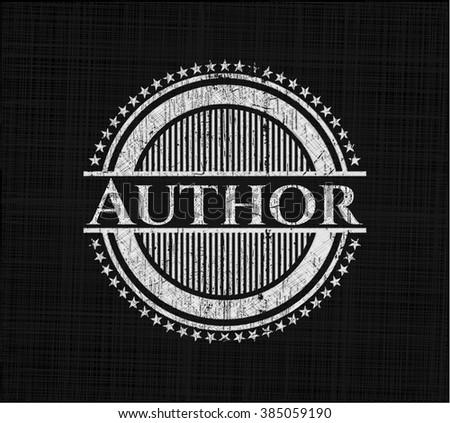 Author on blackboard