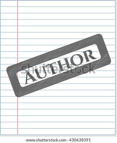 Author pencil emblem