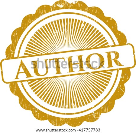 Author rubber grunge texture seal