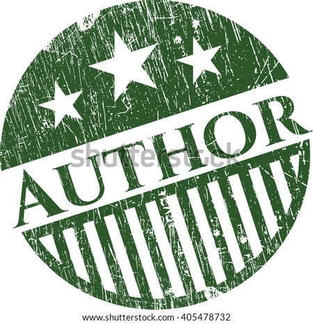Author rubber grunge texture stamp