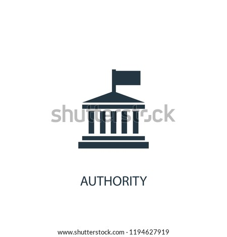 authority icon. Simple element illustration. authority concept symbol design. Can be used for web and mobile.