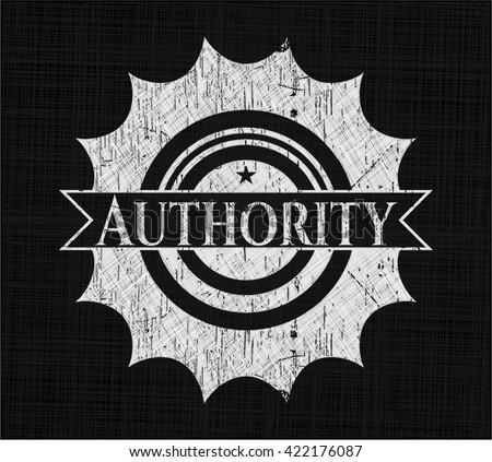 Authority on chalkboard