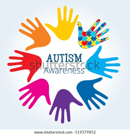 autism awareness concept with