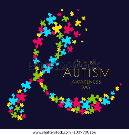 autism awareness poster with a