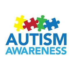 Autism Awareness Vector Puzzle Headline