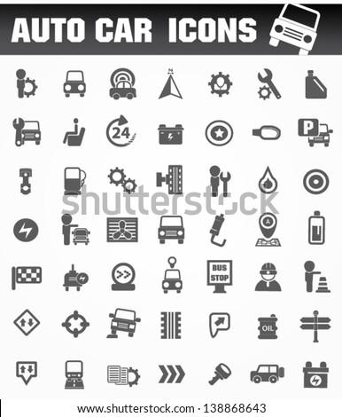 Auto car icon set,vector - stock vector