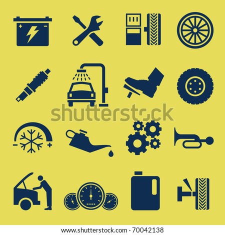 auto car repair service icon