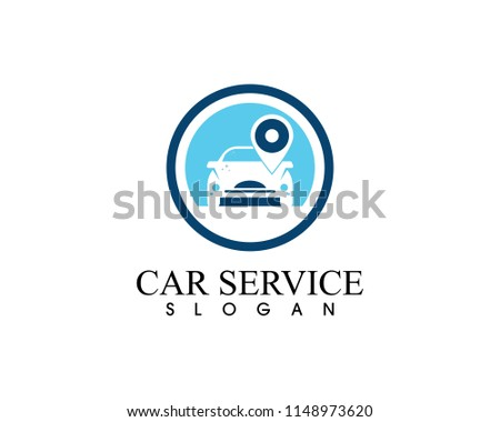 Auto car service logo design vector