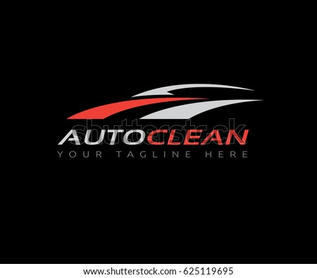 auto clean  car wash  car logo