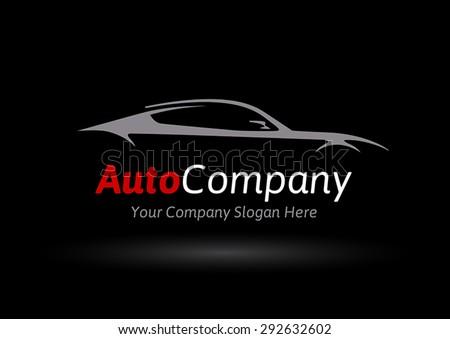 auto company logo vector design