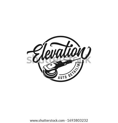 Auto detailing, polisher, logo inspiration, automotive