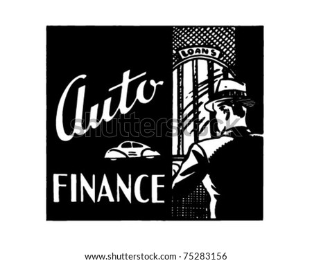 Auto Finance - Retro Ad Art Banner