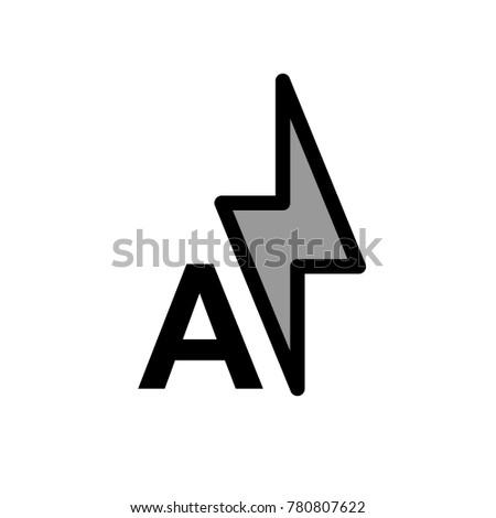 auto flash vector icon