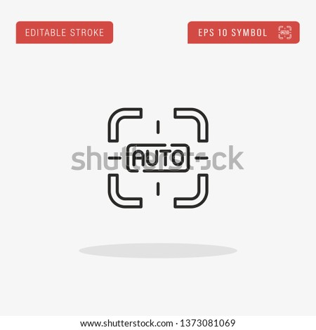 Auto Focus linear vector icon. Modern outline Auto Focus logo concept from Camera Interface collection. Suitable for use on web apps, mobile apps and print media.